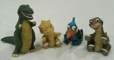 Vintage 1988 Pizza Hut Land Before Time Plastic Hand Puppets Lot Of 4 Petrie