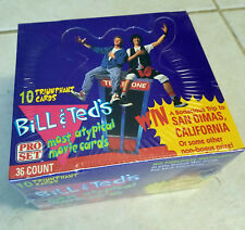 1991 Pro Set Bill & Ted's Most ATypical Movie Trading Card Box (36 Packs) Sealed