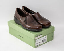 """Women's Size 9.5 Clarks Artisan """"Maven Jade"""" Brown Leather Shoes"""