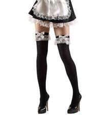 Calze Autoreggenti Cameriera Per Costume Carnevale PS 10113