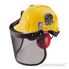 Visière casque de protection grillagée de forestier