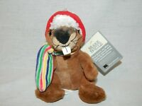 """Plush Beaver Hudsons Bay Co. 7"""" with Scarf and Trapper hat Canada NEW Canada HBC"""