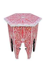 Mother of pearl Octangle Pink Color Side Table / coffee Table/ Center Table Mode