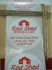 Return address labels 50 Round personalised address stickers White Large 50mm