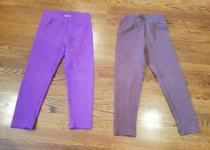 Lot Of 2 hanna Andersson Girls Pants / Leggings size 4T