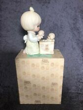 Precious Moments-Girl/Puppies/Box-Always Room For One More-Members Only 1989