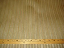 """Calico Corners Sage/Beige/Gold Grossgrai Satin Stripe Upholstery Fabric 57""""W BTY"""