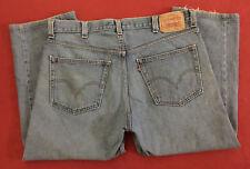 "Levi's 505 Regular Fit Straight Leg Mens Blue Jeans size 38x30 (Hemmed @ 39x25"")"