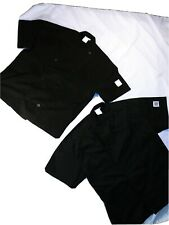Two Revival Chef large short sleeve black Jacket one new one used once