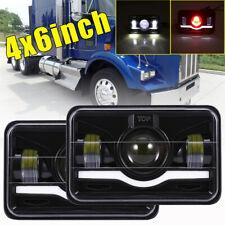 "2Pcs 4x6"" LED Headlight Sealed Hi/Lo Beam Fog Light For Freightliner FLD120 112"