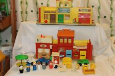 Vintage 997  Play Family Village Fisher Price Little People  #3 THEATER  MAIL