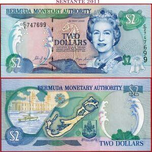 (com) BERMUDA - 2 DOLLARS 24.5.2000 - P 50a  - UNC