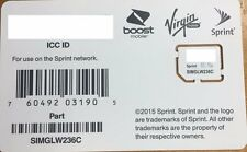SPRINT,BOOST,VIRGIN, Ting,  Micro SIM CARD SIMGLW236C