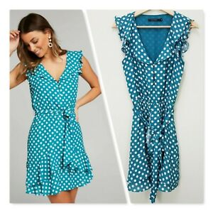[ PORTMANS ] Womens Bluegrass Spot Soft Dress   Size AU 8 or US 4