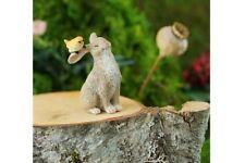 Miniature Dollhouse FAIRY GARDEN - Rabbit Playing With Bird - Accessories