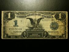 1899 $1 Black Eagle One Dollar Silver Certificate Scarce Note Bill Currency VF