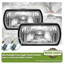 Rectangle Brouillard Spot Lampes pour PEUGEOT 605. Lights Main Plein Faisceau Extra