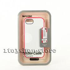 Incase Pro Slider Hard Shell Cover Case for iPhone se 5s 5 (White/Raspberry) NEW