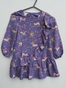 Gorgeous MONSOON Lilac/Purple Unicorn Lined Frill Occasion Dress age 7 years