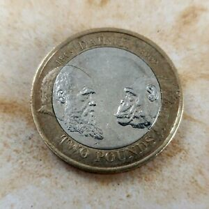 A 2009 British Charles Darwin Collectible Two Pound Coin