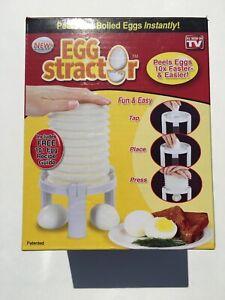 Eggstractor Egg Peeler White Peelers Slicers Utensils Gadgets Peels hard boiled