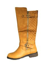 DailyShoes Military Combat Boots shoes zipper Mid Calf Card inside Pocket 7.5
