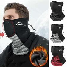 Windproof Winter Warm Neck Gaiter Fleece Thermal Face Cover Scarf Adjustable UK