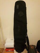 Burton 166 Snowboard Shoulder bag true Black silver lining great Condition