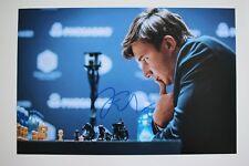 Gm sergei Kariakin signed 20x30cm foto autógrafo Autograph ip5 Grandmaster Chess