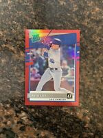 Gavin Lux 2020 Donruss Baseball Rated Rookie Red Holo Card #44