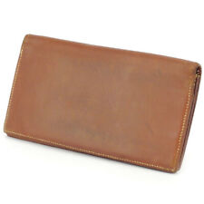 HERMES length wallet leather Auth used H717