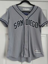 Majestic Women's San Diego Padres Gray Blue Cool Base Jersey Sz M NWT