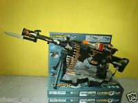 Combat 3 Army Commando Machine Gun Pistol With Lights And Sounds Kids Toy