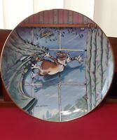 Danbury Mint Comical Cats Curtain Call Collector`s Plate  By Gary Patterson