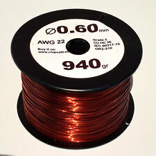 0.6 mm 22 AWG Gauge 940 gr ~360 m (2 oz) Magnet Wire Enameled Copper Coil