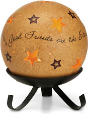 Pavilion Good Friends Are Like Stars Tea Light Candle Holder with Stand 05749