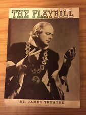 THE PLAYBILL 1937 @ ST JAMES THEATRE - KING RICHARD II -MAURICE EVANS, IAN KEITH