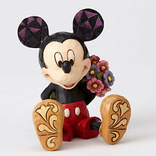 Disney Traditions Jim Shore MICKEY MOUSE with Flowers Mini Figurine 4054284