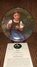 Beauty of Bouguereau, LUCIE, collectible plate #1 of 6, 23k GOLD rim