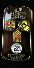 US 2ND MARINE DIVISION SGT MAJOR MARDIV CHALLENGE COIN 3RD ID 1ST BDE GCE IRAQ