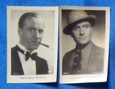 Hermann Thimig 1933 Ramses Film Star Cigarette Cards Lot of 2