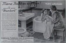 PUBLICITE COMPAGNIE NATIONALE DES RADIATEURS SALLE DE BAINS SIGNE ARLEX 1936 AD