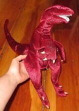 """Folkmanis VELOCIRAPTOR Red DINOSAUR Plush Full Body Hand Puppet 17"""" Folktails"""