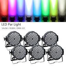 6Pcs Rgbw 54Leds*3W Stage Par Light Washer Lamp Dmx512 8Ch Party Par64 Lighting