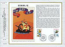 FEUILLET CEF / DOCUMENT PHILATELIQUE / EUROPA 1992 SAINT DIE