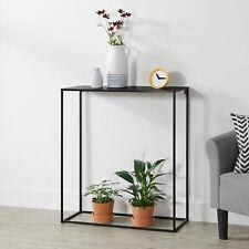 Table Console Table dAppoint Industriel en M/étal R/ésistant 40 x 110 x 50 cm Noir Mat en.casa
