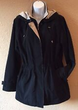 Liz Claiborne Black Coat Ladies Small Jacket Detachable Hood