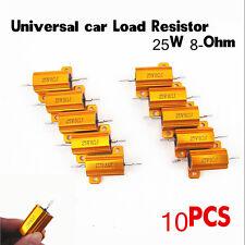 Universal 10pcs Car SUV Load Resistor 25W 8-Ohm Fix LED Bulbs Fast Flash Blink