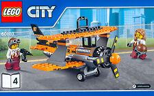 LEGO® Doppeldecker Flugzeug Biplane Plane NEU Flugschau Airport Air Show 60103-4