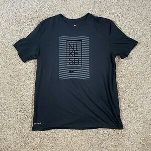 Nike SB GRAPHIC-TEE DRI-FIT Size Large 833630-010 Black and Gray